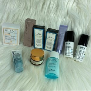 Sephora facial mini products Clean fragrance